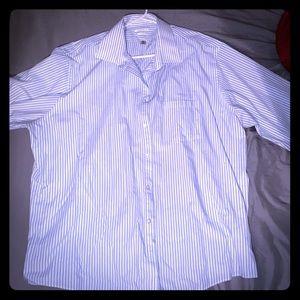 Men's Van Heusen Button-Up & Gray Dress Pants